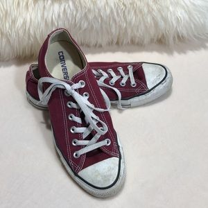 Converse Burgundy Chuck Taylor All Star Sneakers